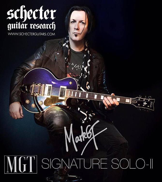 Mark Gemini Thwaite Schecter MGT Signature Solo II Ultraviolet