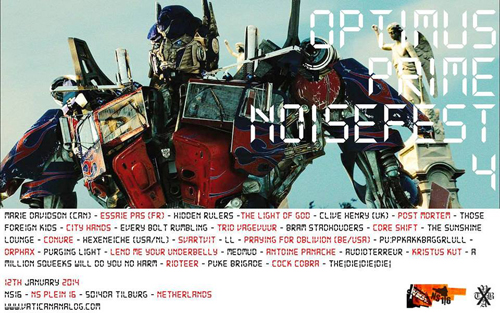 Vatican Analog presents Optimus Prime NoiseFest 4