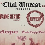 Civil Unrest tour announced