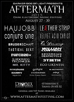 Headliners announced for 2015 Aftermath festival