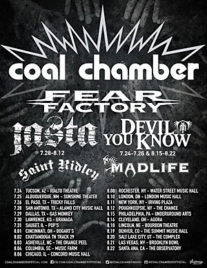 Coal Chamber and Fear Factory to tour North America
