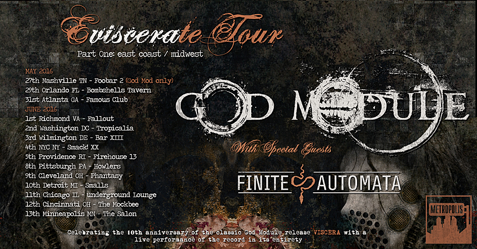 God Module to embark on east coast/midwest tour