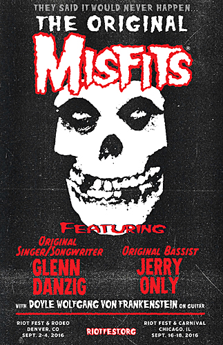 Original Misfits lineup to reunite for Riot Fest
