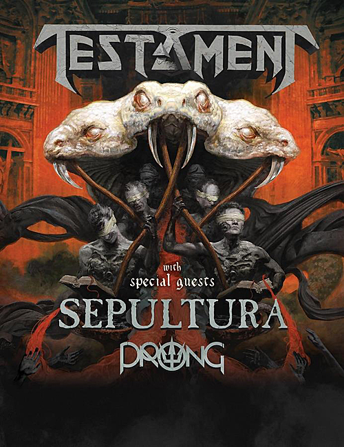 PRONG + Testament + Sepultura, 2017 Tour