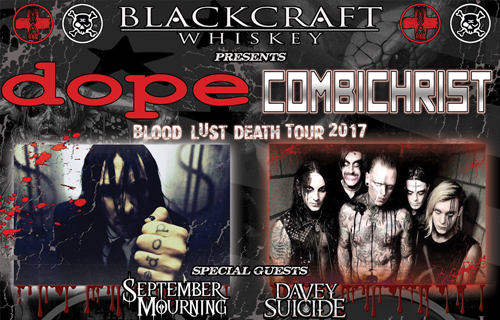 DOPE/Combichrist - Blood Lust Death Tour 2017