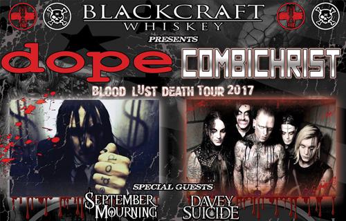 DOPE/Combichrist - Blood Lust Death Tour 2017