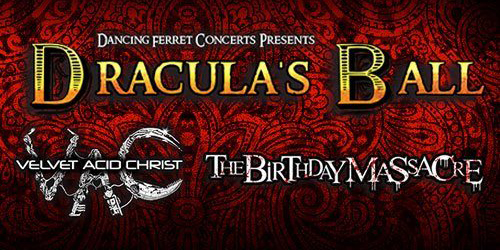 The Birthday Massacre and Velvet Acid Christ to headline Dracula's Ball