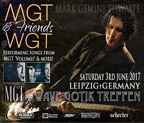 Mark Gemini Thwaite to appear at 2017's Wave-Gotik-Treffen, announces new collaborations
