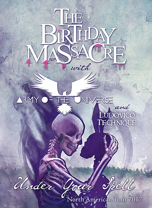 The Birthday Massacre, Army of the Universe, and Ludovico Technique to tour North America