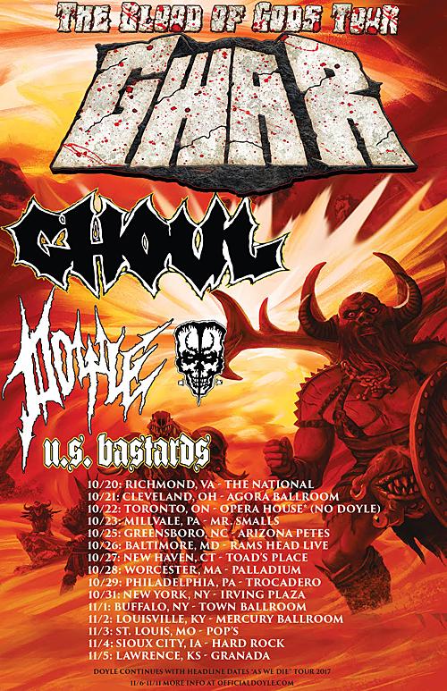 GWAR - The Blood of Gods Tour 2017