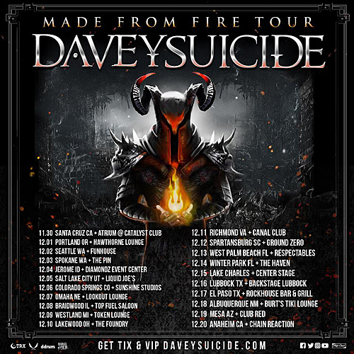 Davey Suicide - Made from Fire Tour