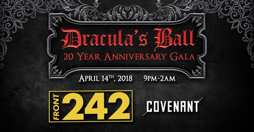 Front 242 and Covenant to perform at Dracula's Ball 20 Year Anniversary Gala