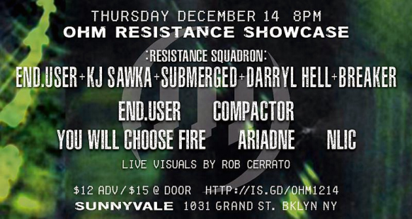 Ohm Resistance announces showcase event featuring End.user and Compactor