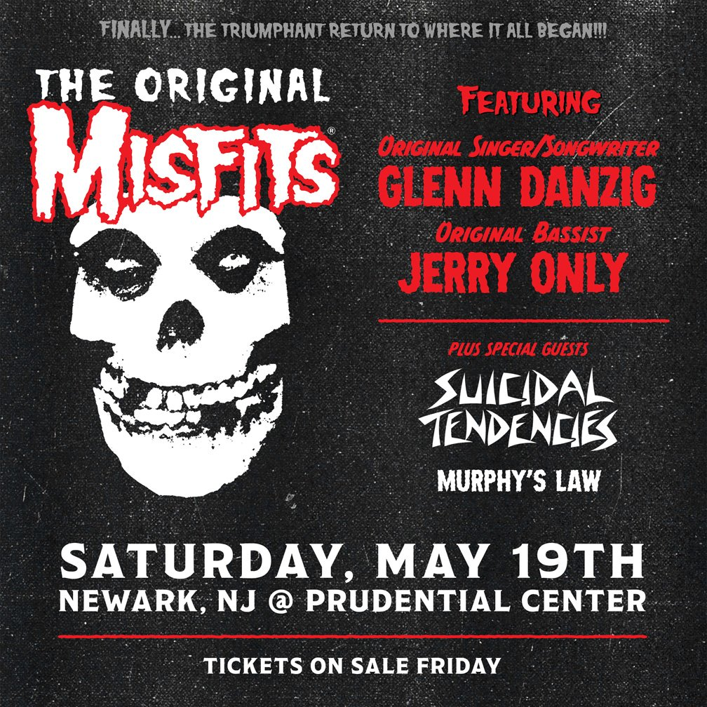 "Original Misfits to perform in New Jersey, ""where it all began!"""