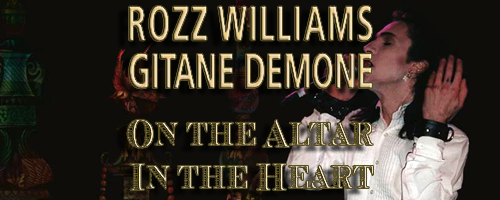 Long awaited tour recordings of Rozz Williams and Gitane DeMone to be released