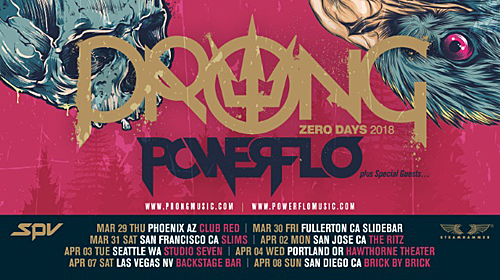 PRONG releases new music video prior to West Coast tour
