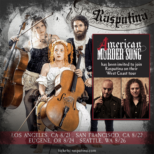 Rasputina invites American Murder Song for West Coast tour