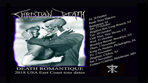 Christian Death announces U.S. East Coast live dates