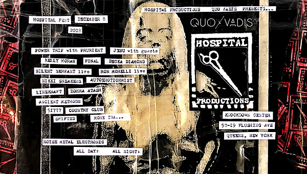 Hospital Productions announces lineup fo Hospital Fest to include Merzbow, Jesu, and Final