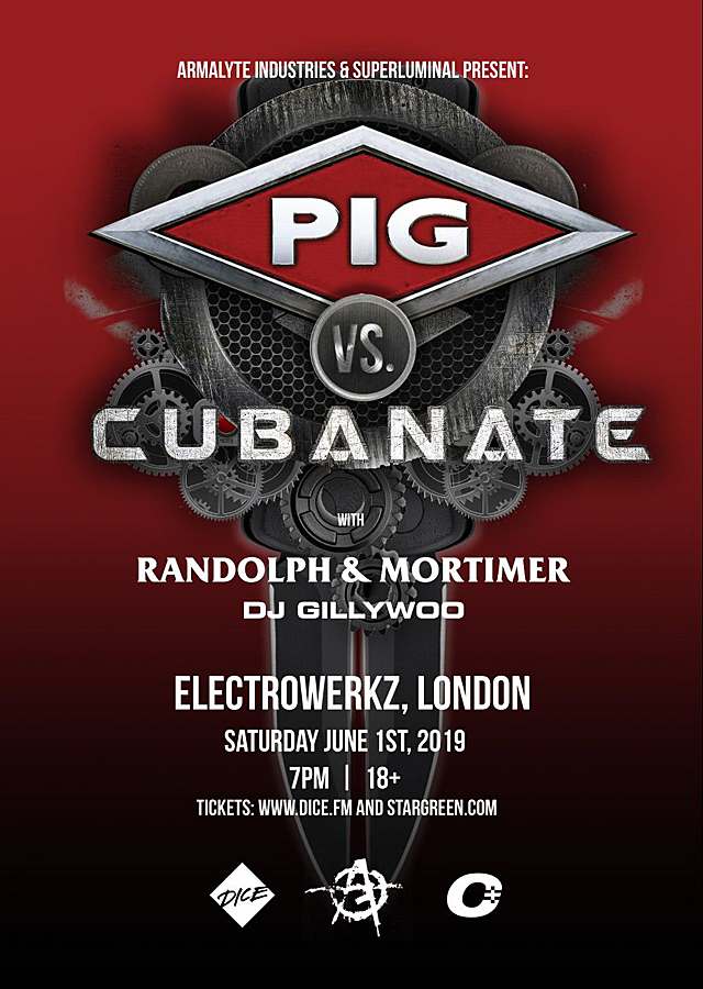 PIG and Cubanate go head-to-head for a co-headlining event at Electrowerkz